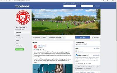 TuS Hilgert jetzt auch in Facebook